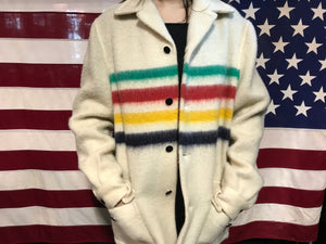 "Hudson's Bay "" Genuine Seal of Quality Garment "" Vintage Wool Jacket Made in Canada"