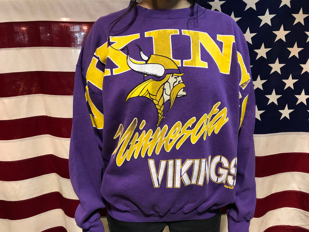 Minnesota Vikings NFL 1994 Vintage Crew Sporting Sweat