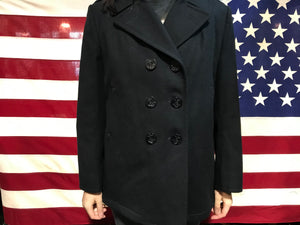Peacoat Vintage DSCP Quarterback Collection Womens Wool Jacket Made in USA