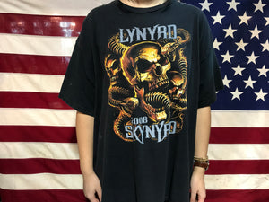 Lynyrd Skynyrd Rock & Rebels 2008 Tour Original Vintage Rock T-Shirt