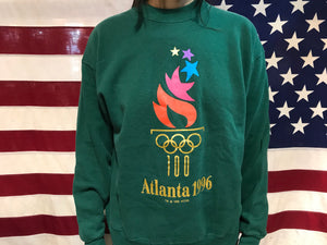Atlanta Olympic Games 1996 USA Mens Vintage Crew Sweat by Hanes