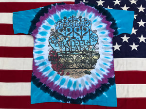 "Grateful Dead - 1994 P.Maguire "" 1965 - 1995 30 Years ""  Original Vintage Rock Tie Dye T- Shirt By Liquid Blue Made In USA"