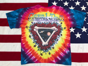 "Grateful Dead  - Rich Normandin "" Space Your Face 1992 "" Original Vintage Rock Tie Dye T-Shirt by Liquid Blue USA"