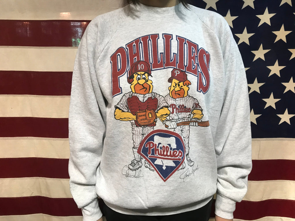 Philadelphia Phillies MLB 90's Vintage Crew Sporting Sweat by Fruit of the Loom Made in USA