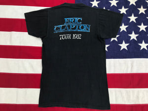"Eric Clapton  "" TOUR 1982 "" Original Vintage Rock T-Shirt"