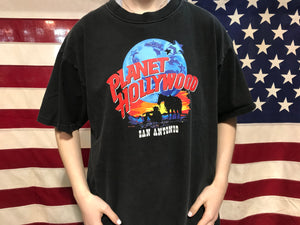 "Planet Hollywood "" San Antonio  ""  90's Vintage Crew T-Shirt Made In USA"