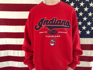 Cleveland Indians MLB Vintage Crew Sporting Sweat by Lee Sport