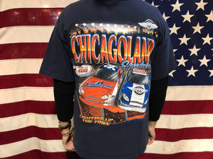 Nascar Vintage 2000's T-shirt Chicago Land  Speedway by Chase Authentics