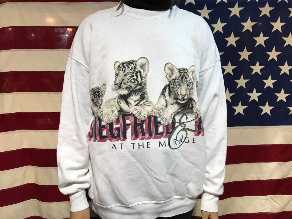 Siegfried & Roy At The Mirage Vintage 90's Animal Print Crew Sweat by Habitat