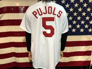 Cardinals Baseball Vintage Jersey Pujols No 5 by Majestic