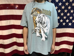 "Animal Print 90's Vintage T-Shirt "" Tigers "" Siegfried & Roy At The Mirage"
