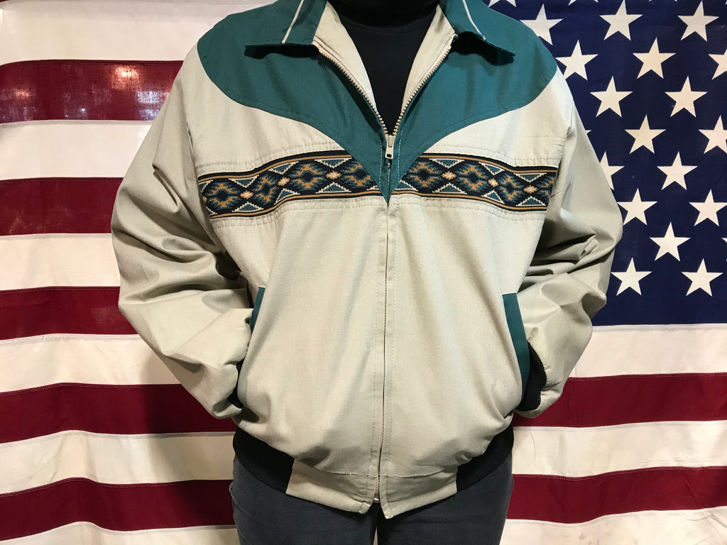 Aztec 90's Vintage Bomber Jacket by Canyon Guide Outfitters Made in USA