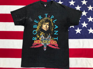 Robert Plant Non Stop Go World Tour 1988 Original Vintage Rock T-Shirt by Royal First Class Made in USA