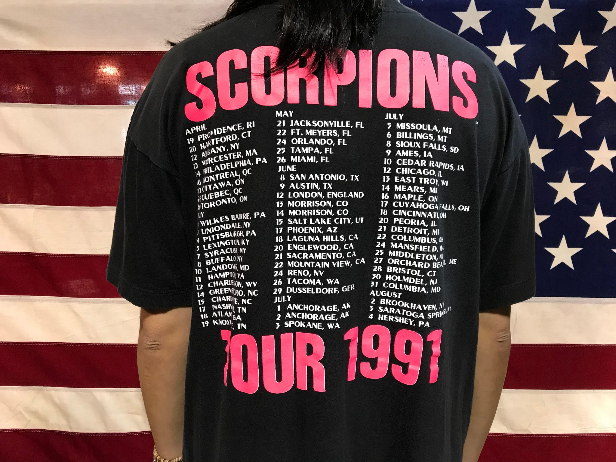 Scorpions Crazy World USA Tour 1991original  Vintage Rock T-shirt