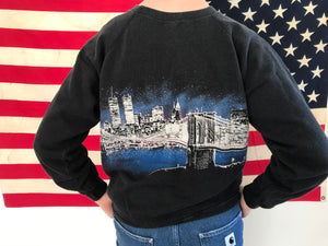 New York ™️San Segal Sportswear 1989 Twin Towers Vintage Crew Sweat By Hanes USA