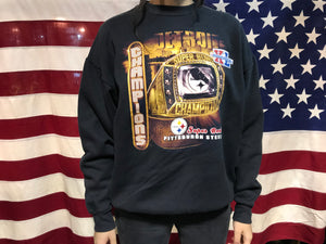 Pittsburgh Steelers NFL SuperBowl XL Vintage Crew Sporting Sweat By Lee Heavyweight USA