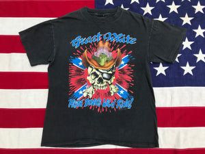 "Great White ""  WILD PSYCHO TOUR '93 "" Original Vintage Rock T-Shirt by Brockum Made in USA"