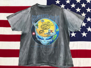 "Grateful Dead 1995 "" Encounter Your Face ""  Original Vintage Rock Tie Dye T- Shirt"
