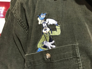 Mickey Mouse & Goofy 90's Vintage Cord Shirt by Mickey Unlimited Disney