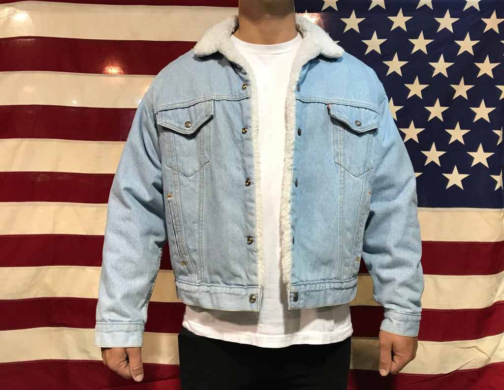 Levis Denim Mens Vintage Sherpa Trucker Jacket
