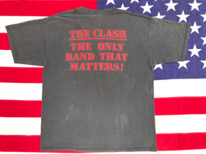 "The Clash RARE 80's 90's  "" The Only Band That Matters ""  Original Vintage Rock T-Shirt by Gildan USA"
