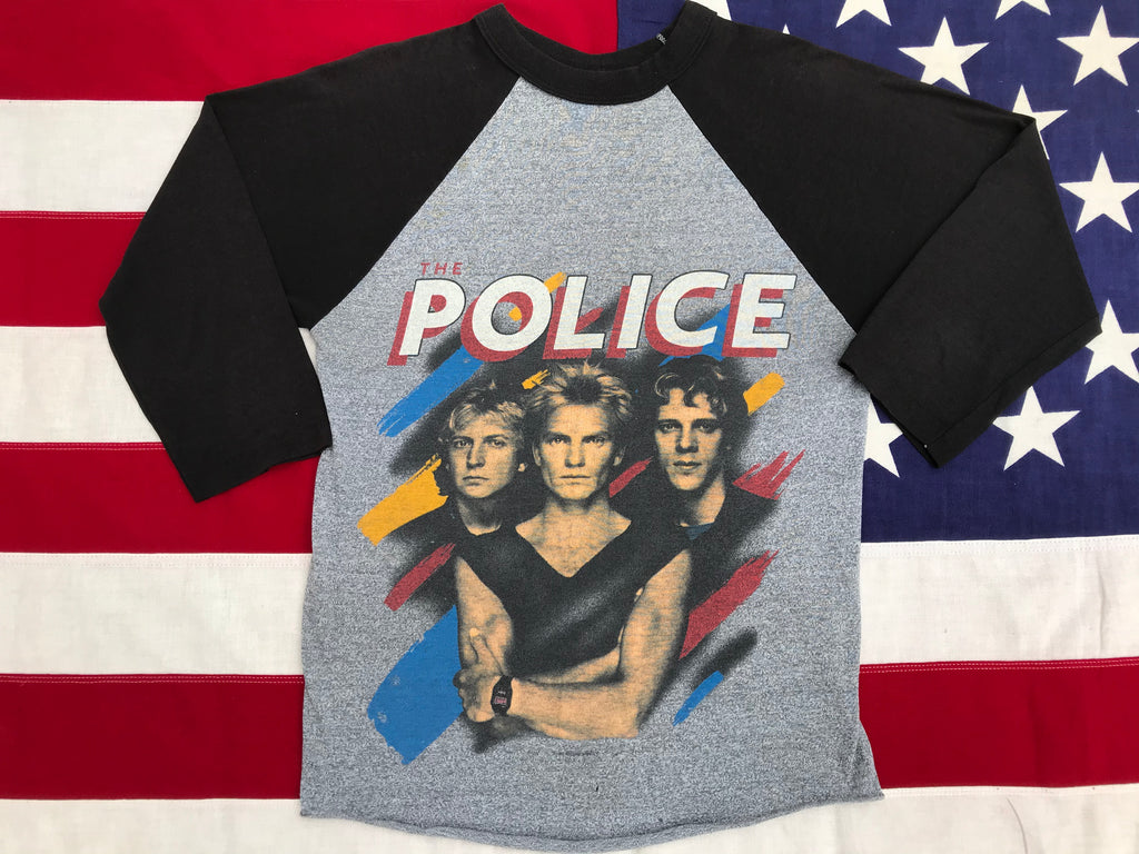The Police Synchronicity Nth America 1983 - 1984 Tour Original Vintage Rock T-Shirt Raglan Sleeve