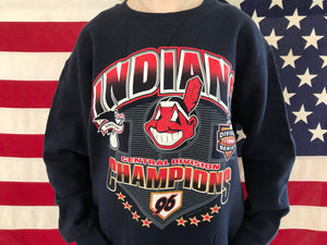 Cleveland Indians MLB 90's Vintage Crew Sporting Sweat by Nutmeg Made in USA