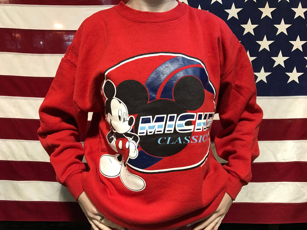 Mickey Mouse 90's Vintage©️Disney Crew Sweat by Mickey Unlimited Jerry Leigh Made in USA