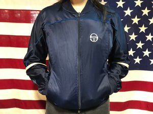 Sergio Tacchini Zip Up Vintage 80's Nylon Track Jacket Made In Italy