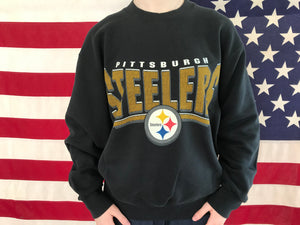 Pittsburgh Steelers NFL 90's Vintage Crew Sporting Sweat By Pro Player Made in USA