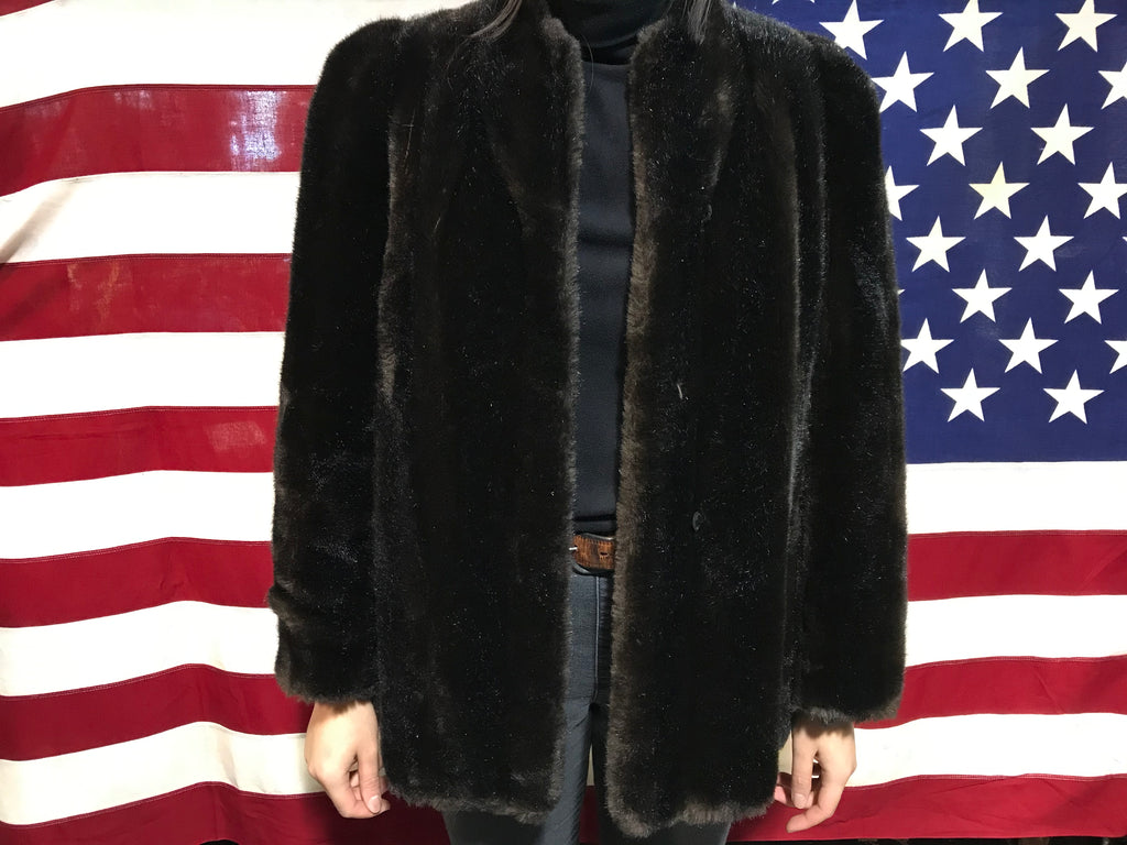 Intrigue Faux Fur 80's Vintage Jacket