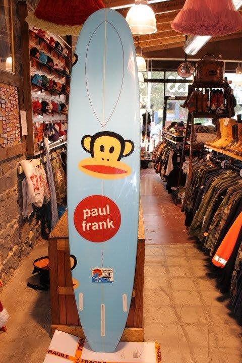 "Robert August - Rare Limited Edition "" Paul Frank Julius "" 9ft Long Surf Board"