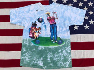 "Grateful Dead Tour '94 - Rare - R.Stephen Sauer '94 "" Grateful Golfer "" Original Vintage Rock Tie Dye T-Shirt by Clay Hill Dry Goods Made In USA"