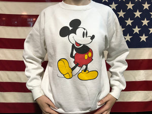 Mickey Mouse 80's Vintage ©️Disney Crew Sweat Raglan Sleeve Made in USA