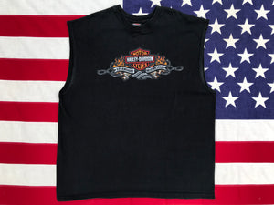 Harley Davidson Vintage 2000's  Mens Tank - Macon Georgia Made in  USA
