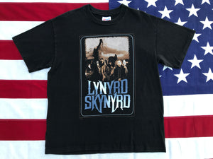 "Lynyrd Skynyrd 1995 "" Endangered Species Tour ""Original Vintage Rock T-Shirt by Hanes Made in USA"