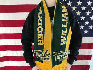 William & Mary Tribe Men's Soccer 90's Vintage Knit Reversible Scarf by Ruffneck Made in UK