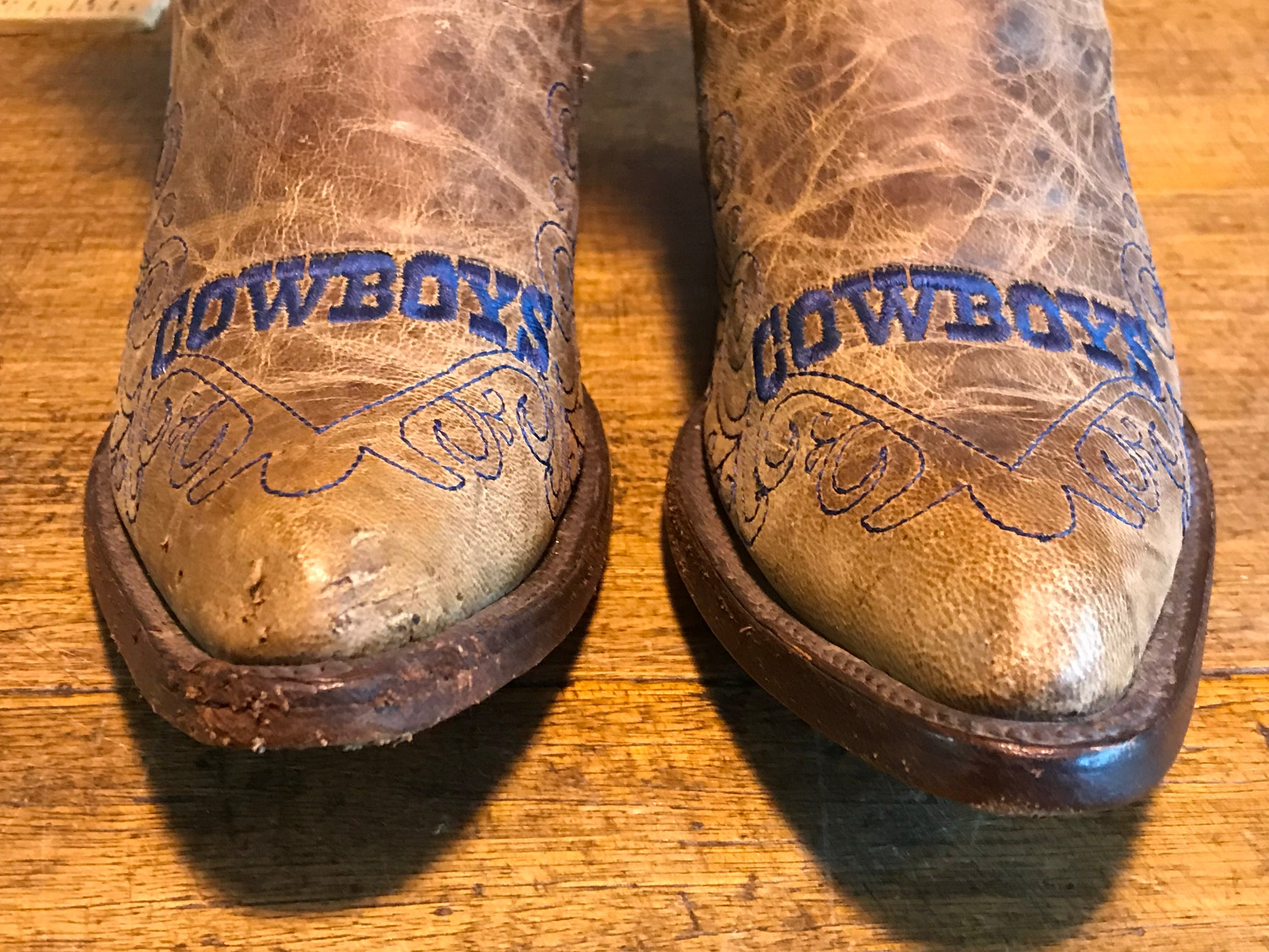 Dallas Cowboys NFL Vintage Flyover Cowboy Boot -Womens by Old Pro Leather Goods Co