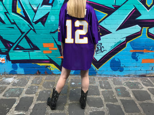 "NFL Minnesota Vikings Vintage 90's  Mens Jersey "" Harvin No 12 "" By NFL Team Apparel"