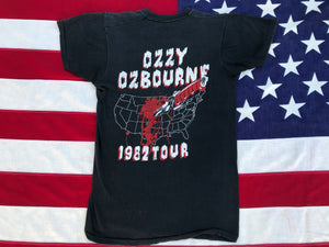 OZZY Osborne 1982 Tour Original Vintage Rock T-Shirt by Screen Stars Made in USA