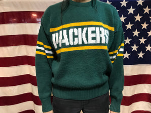 GreenBay Packers NFL Vintage Logo 80's Crew Knit