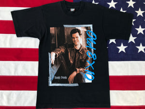 Randy Travis Old 8 X 10 1989 Original Vintage Rock T-Shirt by Screen Stars Best®️Made in USA