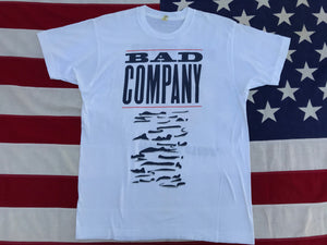 "Bad Company  "" Holy Water "" World Tour 1990 Original Vintage Rock T-Shirt by Screen Stars USA"