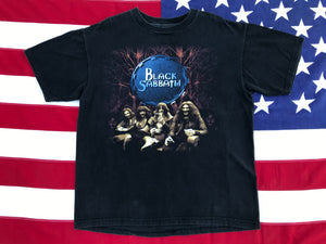 "Black Sabbath "" Reunion Tour "" 1999 Original Vintage Rock T-Shirt Made by AllSport USA"