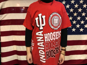 Indiana University Hoosiers 90's Vintage Crew T-Shirt Made in USA