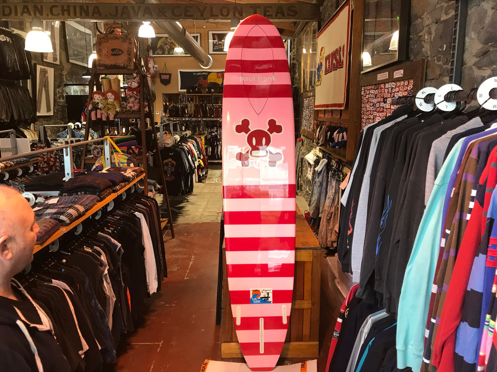 "Robert August - Rare Limited Edition "" Paul Frank Skurvy "" 9ft Long Surf Board"