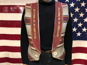 Sharon Young Sportswear YellowStone 90's Vintage South Western Fancy Vest Made in USA