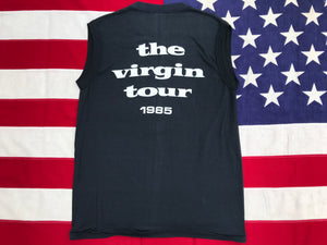 "Madonna RARE "" The Virgin Tour 1985 "" Original Vintage Rock Sleeveless T-Shirt by Winterland Prod. San Francisco CA"