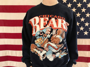 Chicago Bears NFL 1988 Vintage Crew Sporting Sweat by Nutmeg Made in USA