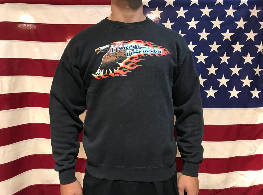 Harley Davidson ©️1989 Holoubek INC. Vintage Crew Sweat Made In USA